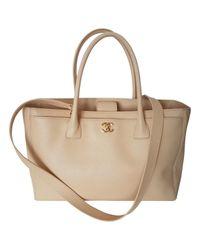 Chanel Natural Executive Leder Shopper
