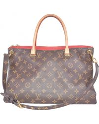 Louis Vuitton Multicolor Pallas Leinen Handtaschen