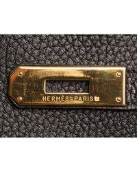 Hermès Black Haut À Courroies Leder Handtaschen