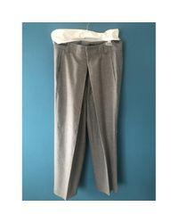 Joseph Gray Grey Wool Trousers