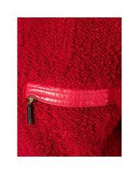 Versace Red Leder Blouson