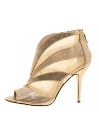 Boots en cuir Fendi en coloris Metallic