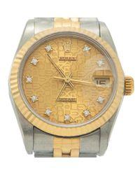 Reloj en oro y acero plateado Datejust 31mm Rolex de color Metallic