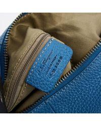 Ferragamo Blue Leather Handbag