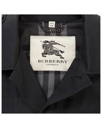Burberry Black Cotton Coat for men