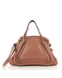Chloé Brown Paraty Leder Handtaschen