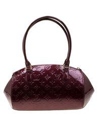 Louis Vuitton Purple Lackleder Aktentaschen