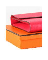 Hermès Pink Leder Clutches