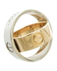 Cartier - Pre-owned Love White Gold Ring - Lyst