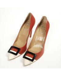 Roger Vivier Red Leather Heels