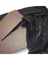 Estola de Seda Louis Vuitton de color Black