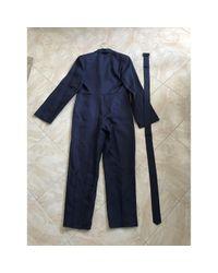 Salopette in lana marina di Jil Sander in Blue