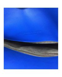 Borsa a mano in pelle turchese \N di Bottega Veneta in Blue