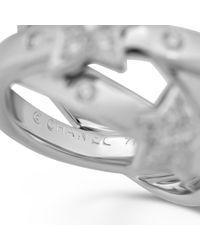 Chanel Metallic Comète Weißgold Ringe
