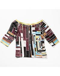 Emilio Pucci Multicolor \n Multicolour Silk Top