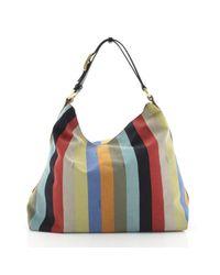 Fendi Blue Leinen Handtaschen