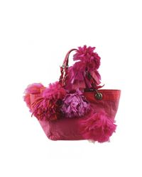 Lanvin Multicolor Leinen Handtaschen