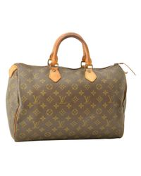 Louis Vuitton Brown Speedy Leinen Handtaschen