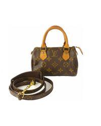 Sac bandoulière Speedy en toile Louis Vuitton en coloris Brown
