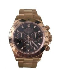 Rolex Metallic Pre-owned Daytona Gold Yellow Gold Watches