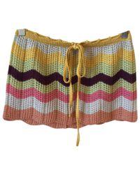 Missoni Multicolor Wool Mini Skirt