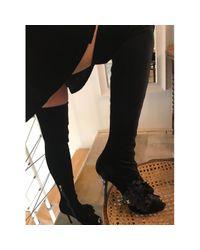 Botas de Terciopelo Louis Vuitton de color Black