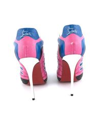 Christian Louboutin Blue White Pink Multicolor Mesh Boltina Fluo 120 Sneaker Pumps Boots/booties