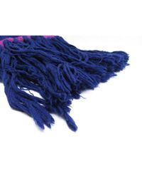 Louis Vuitton Blue Wolle Schals