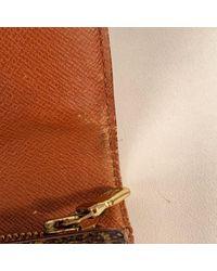 Louis Vuitton Brown Leinen Portemonnaies