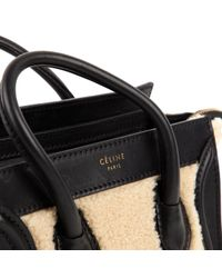 Céline Black Luggage Leder Baguette Tasche
