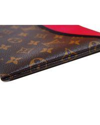 Louis Vuitton Brown Tuileries Leinen Clutches