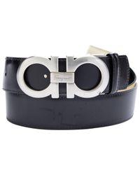 Cinturón en cuero negro Ferragamo de hombre de color Black