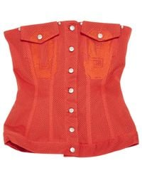 Jean Paul Gaultier Vintage Red Polyester Top