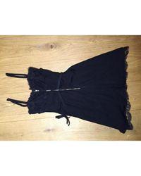 Dolce & Gabbana Black Kleid Viskose Schwarz