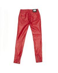 Philipp Plein \n Red Cotton Jeans