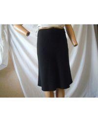 Lanvin \n Black Wool Skirt