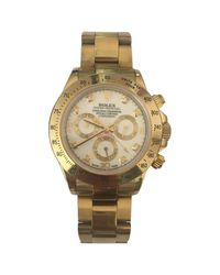 Rolex Metallic Daytona Yellow Gold Watch