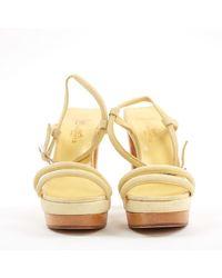 Hermès Yellow Pumps