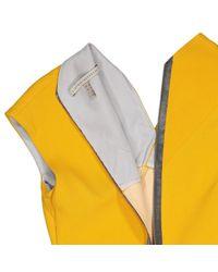 Victoria Beckham Yellow Silk Dress