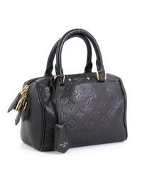 Sac à main Speedy Bandoulière en Cuir Noir Louis Vuitton en coloris Black