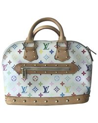 Bolsa de mano en lona multicolor Alma Louis Vuitton