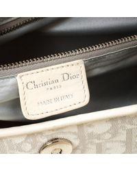 Bolsa de mano en lona blanco Dior de color White