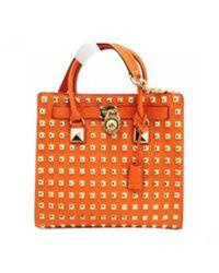 MICHAEL Michael Kors - Orange Hamilton Leather Travel Bag - Lyst