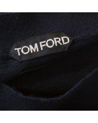 Tom Ford Blue Kaschmir Pullover