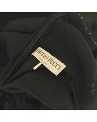 Robe \N en Soie Noir Emilio Pucci en coloris Multicolor
