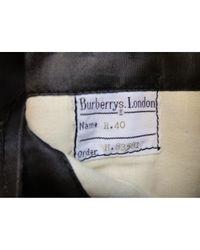Abrigo en lana gris \N Burberry de hombre de color Gray