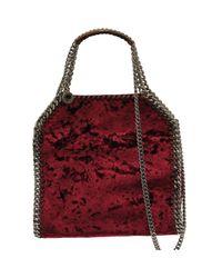 Stella McCartney Red Pre-owned Falabella Velvet Handbag
