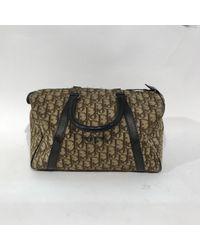 Bolsa de mano en algodón marrón \N Dior de color Brown