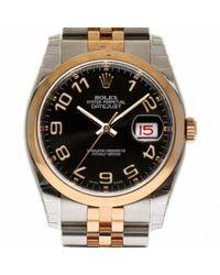 Reloj en oro y acero negro Datejust 36mm Rolex de hombre de color Black