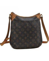 Louis Vuitton Black Odéon Leinen Handtaschen